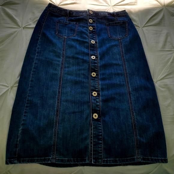 Size 10P  Christopher banks  Jean skirt
